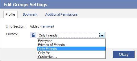 Definições Grupo de Privacidade