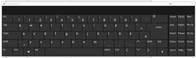 teclado na tela