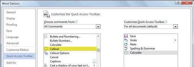 Calculadora Microsoft Word