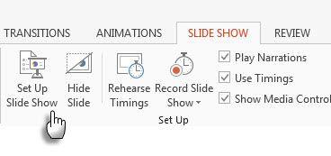 Configurar Slideshow