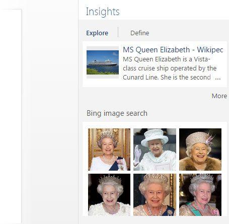 Insights com Bing
