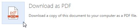 Guardar online do Office como PDF
