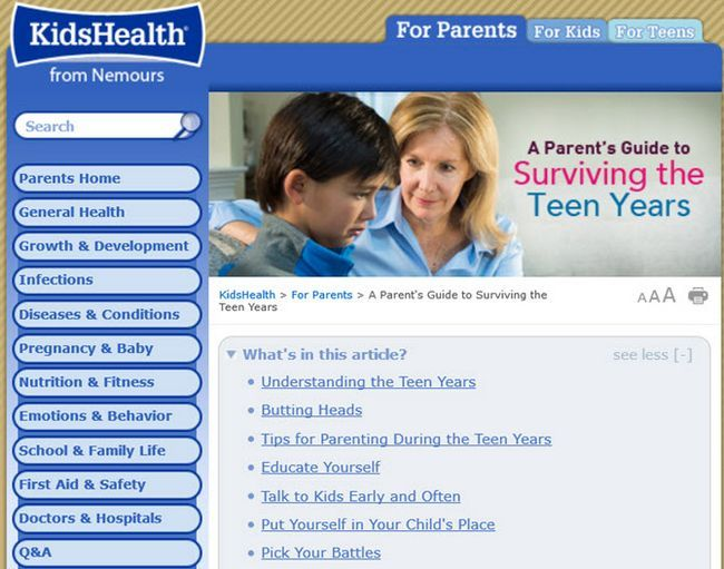 crianças de saúde de Nemours