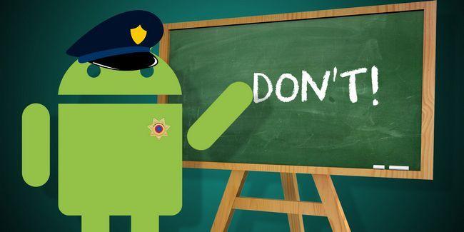 9 Coisas que não fazer quando chegar a sua primeira telefone android