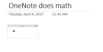 matemática auto onenote