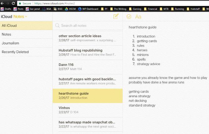 icloud observa navegador