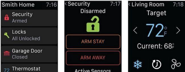 Alarm.com relógio inteligente Apps