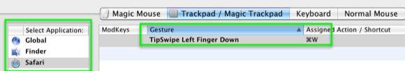 aplicação Magic Trackpad