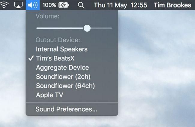 áudio Bluetooth saída