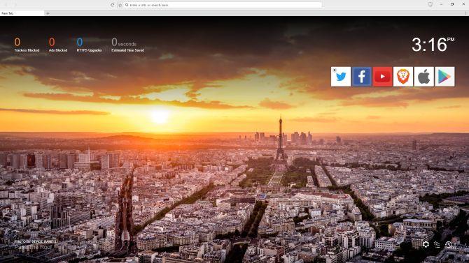 página inicial do navegador valente