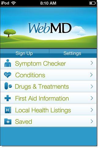 aplicativo WebMD