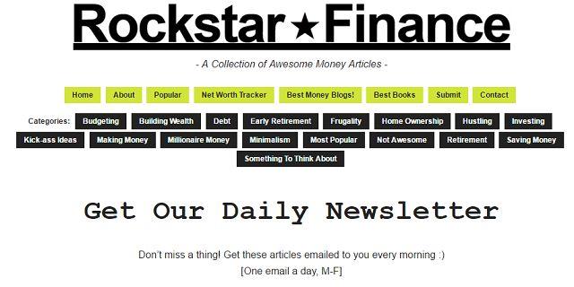 Rockstar Finanças Boletim Inscrição tela