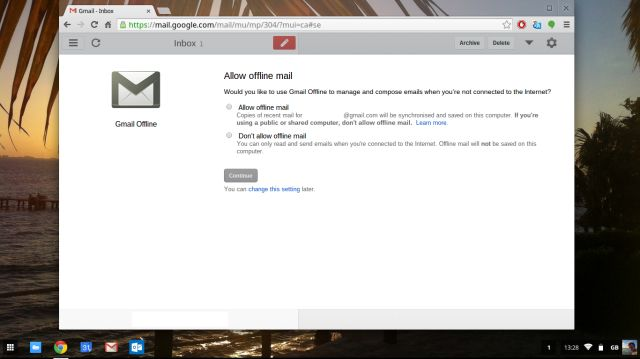 Gmail off-line-setup