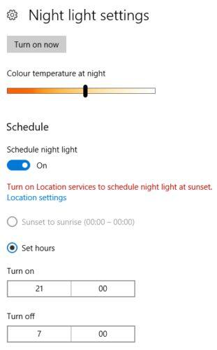 janelas configurações de luz 10 noite