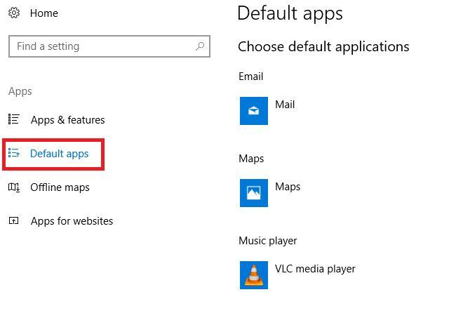 Windows 10 criadores aplicativos padrão de atualização