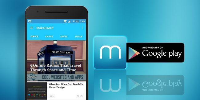 Faça o download do novo aplicativo makeuseof para android