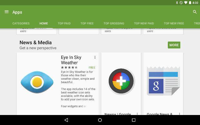 AndroidGooglePlay-app-Secções