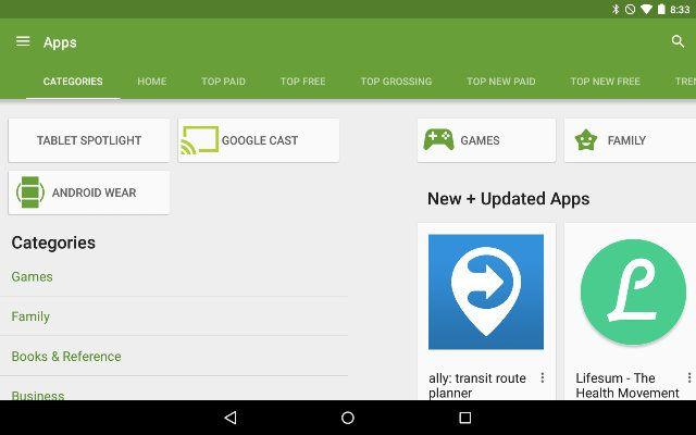 AndroidGooglePlay-Categorias