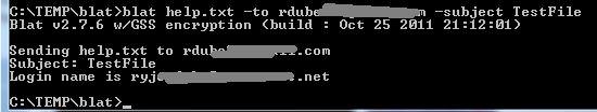 utilitário de e-mail de linha de comando Blat