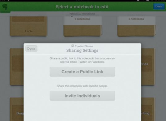 Evernote aplicativo para iPad