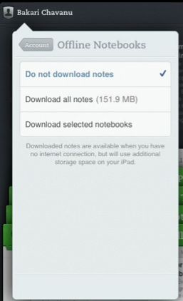 Evernote aplicativo para iPhone