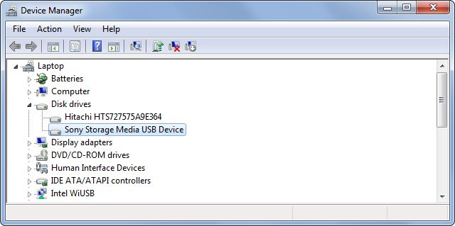 removíveis-drives device-manager;