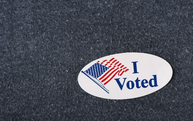 eu votei autocolante