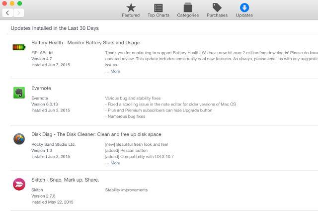 mac app store-updates