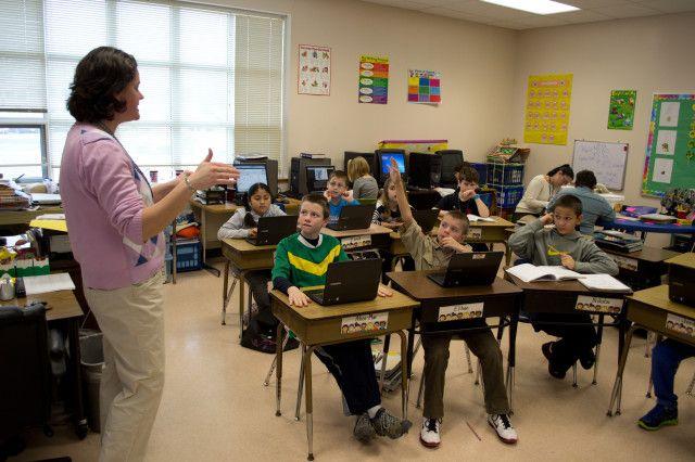 Chromebooks-in-the-sala de aula