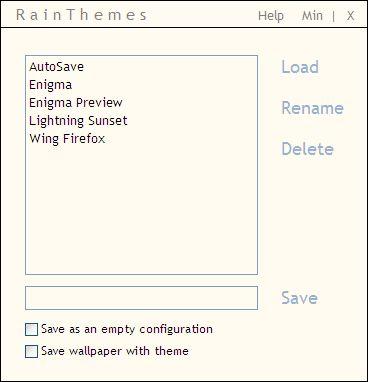 gerente tema Rainmeter