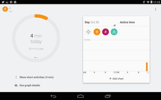 googlefit-exercício