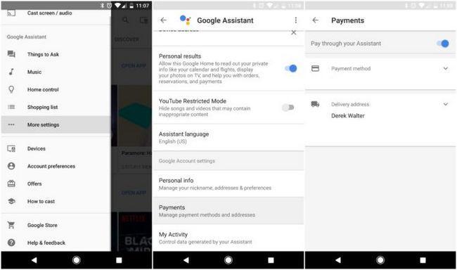 google pagamento assistente de configuração