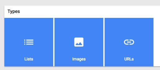 google manter tipos