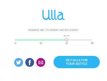 Beber água com Ulla