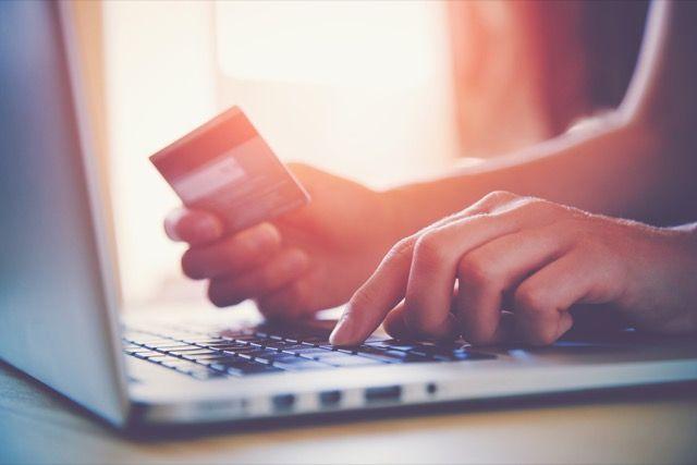 -Shopping-de cartão de crédito on-line