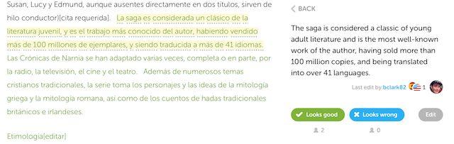 Duolingo-tradução