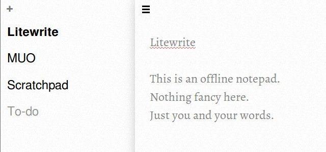 litewrite off-line