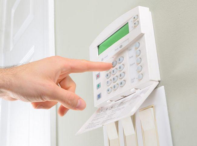 painel de controlo de alarme
