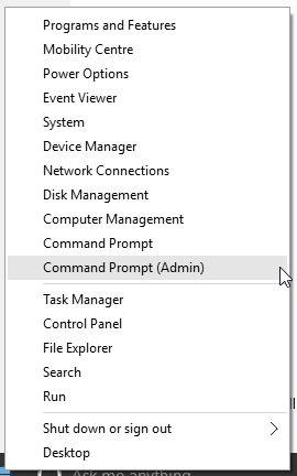 Opção Windows 10 Iniciar