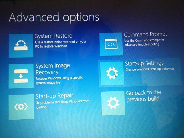 Windows 10 de inicialização avançadas