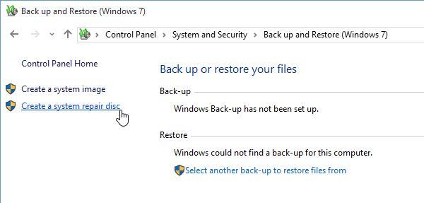 Reparar o Windows 10 System