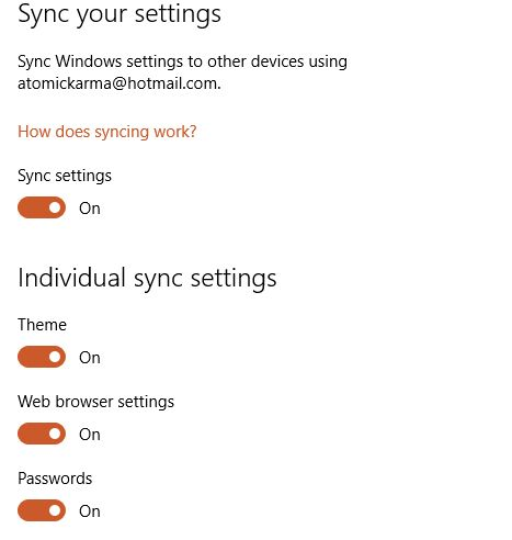 MUO-windows-W10-settings-contas-sync