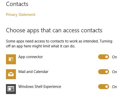 MUO-windows-W10-configurações de privacidade do contatos