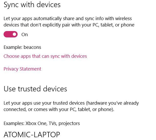 MUO-windows-W10-configurações de privacidade do dispositivos