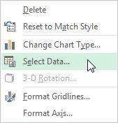 Excel Select intervalo de dados