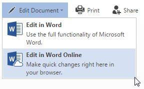 editar Office Online no Word