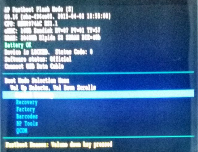 ambiente bootloader android