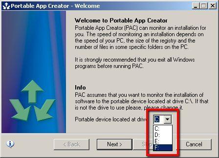 criar aplicativos portáteis