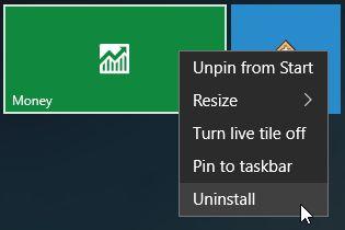 Windows 10 App Uninstall