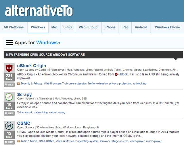 -source-janelas abertas-AlternativeTo